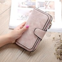 2017 New Fashion Women Wallet Grind arenaceous handbags Women Purse Soft Handbags Card Holder Lady Long Wallet Bag female purse