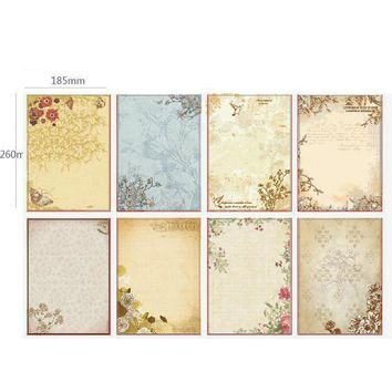 80pcs European Style Writing Paper Stationery Pattern Vintage Letterhead Letter Paper paper for love letter