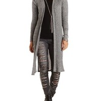 Ribbed Side Slit Duster Cardigan by Charlotte Russe