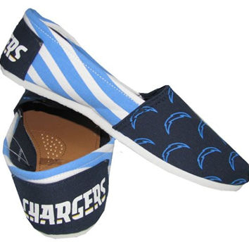San Diego Chargers NFL Canvas Slip-On Shoes