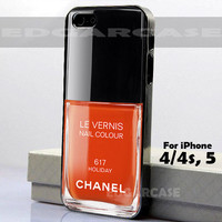 617 Holiday, Le Vernis - Hard Cover, Nail Polish - For iPhone 4 / 4S, iPhone 5 - Black / White Case