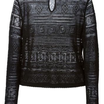 DCCKIN3 Emilio Pucci round neck sheer sweater