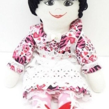 Rag Doll exotic look little girl doll play doll handmade ragdoll cupids bow mouth, NF104
