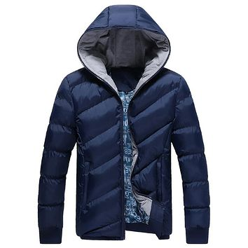 DIMUSI Winter Jacket Men Brand Parka Men Clothing Zipper Cotton Padded Hooded Thick Quilted Jackets Coat Mens Hoodies,YA339