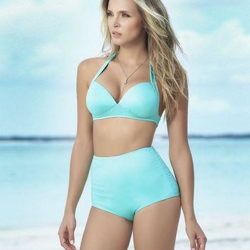 a20fec5e772d5 CREYON Aqua High Waist Swimsuit Bottom