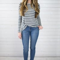 Kenzi Striped L/S Tee