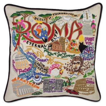 Roma Hand Embroidered Pillow