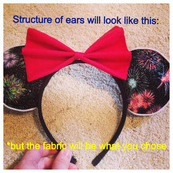 Custom You Choose Mouse/mickey ears headband