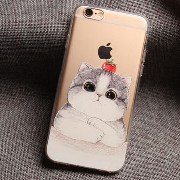 Tomatoes and Cat iPhone 7 7 Plus & iPhone 6 6s Plus & iPhone 5s se Case Personal Tailor Cover + Gift Box-474