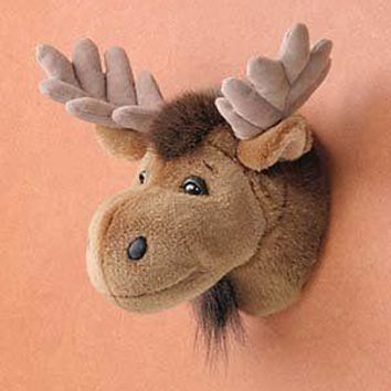 "7"" Moose Head Plush Stuffed Animal Toy"
