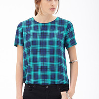 Boxy Plaid Top