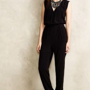 Michelia Petite Jumpsuit by Cynthia Vincent Black Motif