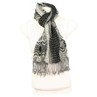 Women's Acrylic Fashion Scarves - Black - 926