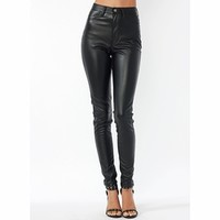 Faux Leather Biker Babe Pants - GoJane.com
