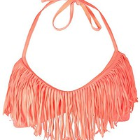 Gossip Collection Fringe Swimwear Top