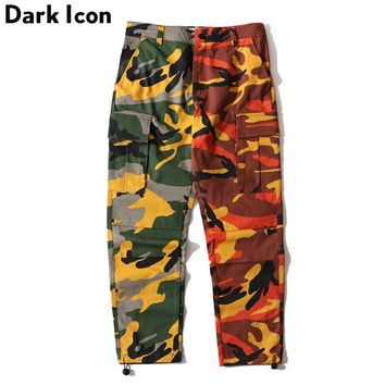 Patchwork Camouflage Cargo Pants Men New Fashion Loose Style Men's Pants Multi Como Pants