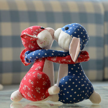 Toy Decoration Couple Rabbit Dolls Home Decor [6282555846]