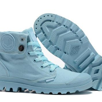 Palladium Baggy Women Turn High Boots Blue