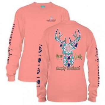 "Long Sleeve Simply Southern ""Love Dearly"" Tee"