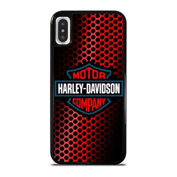 HARLEY DAVIDSON LOGO RED iPhone X Case