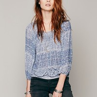 Free People Womens Printed Moss Top -