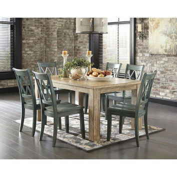 Modern 68 x 40-inch Rectangular Dining Table in Bisque Wood Finish