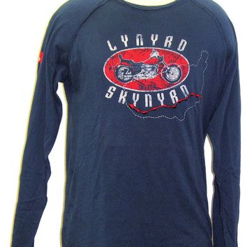 Lynyrd Skynyrd T-shirt - Lynyrd Skynyrd Logo and Motorcycle Long Sleeve Vintage shirt. Men's