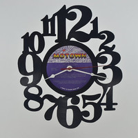 Vinyl Record Clock Wall Hanging  (artist is Lionel Richie)