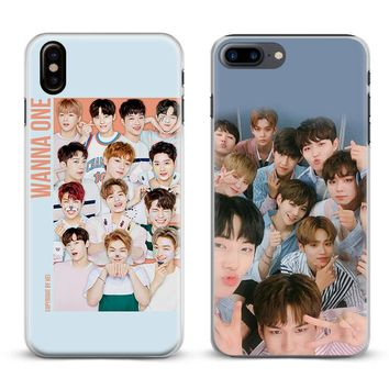 Wanna One Kpop Boy band Fashion Coque Phone Case For Apple iPhone X 8Plus 8 7Plus 7 6sPlus 6s 6Plus 6 5 5S SE Cover Shell
