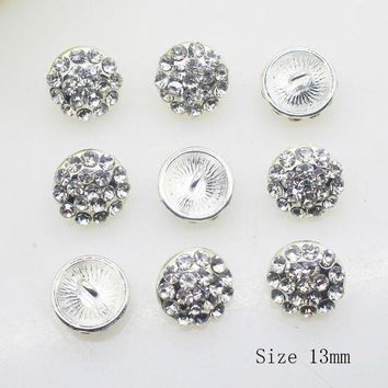 DCCKLW8 NEW 10PCS/LOT 13MM Round Deacorative buttons DIY Ribbon  Invitation Alloy bra button Shirt  Accessory Free shippng