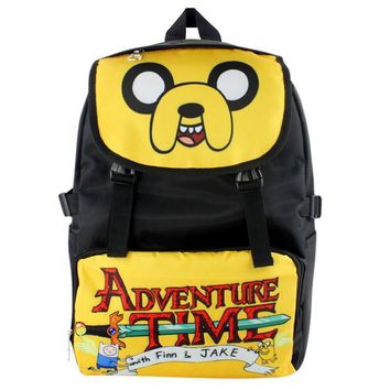 American Cartoon Adventure Time Jake Waterproof Laptop Backpack/Double-Shoulder Bag/School Bag