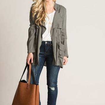 Rita Olive Lightweight Jacket