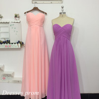 Deep Lilac And Pink Prom Dresses  Long Bridesmaid Dresses Homecoming Dresses Evening Dresses Party Dresses cheap women prom dress on sale.
