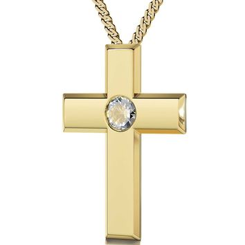 """The Lord's Prayer"" Traditional Version, 24k Gold Plated Necklace, Swarovski"