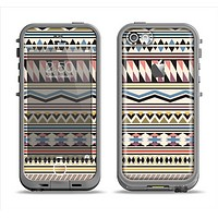 The Tan & Color Aztec Pattern V32 Apple iPhone 5c LifeProof Fre Case Skin Set