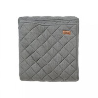 AW17 KIP&CO GREY MARLE COTTON JERSEY QUILTED CRIB COMFORTER - Crib Comforters - Baby