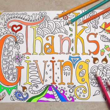 thanksgiving adult coloring book page thanksgiving instant download colouring home decor meditation printable print digital lasoffittadiste