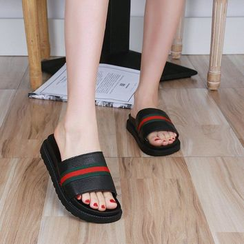 Summer Women Slip On Loafer Flat Sandal Beach Slippers Holiday Fashion Shoes Hot
