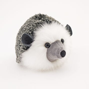 Hemingway the Black and Grey Hedgehog Stuffed Animal Plush Toy