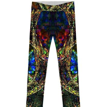 Merry Dancers Lucy Unique Designer Print Leggings - Girls