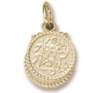 Birthday Cake Charm in Yellow Gold Plated