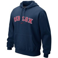 Nike Boston Red Sox Classic Pullover Hoodie - Navy Blue