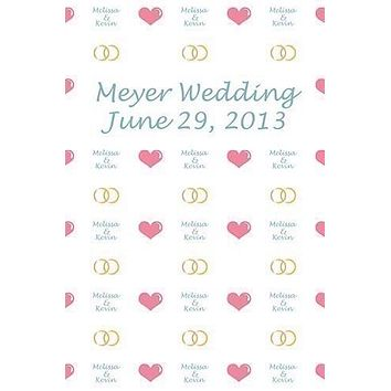 Custom Step And Repeat Wedding Photo Booth Backdrop (Color/Font Options Available) - C0011