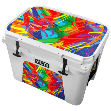Vivid Multicolored Squiggles Skin for the Yeti Tundra Cooler