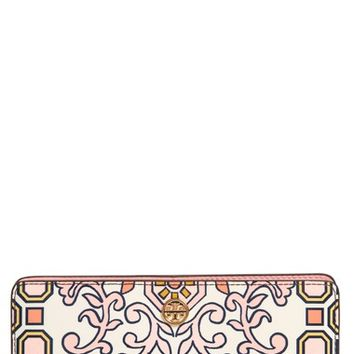 Tory Burch Hicks Garden Party Leather Wallet | Nordstrom