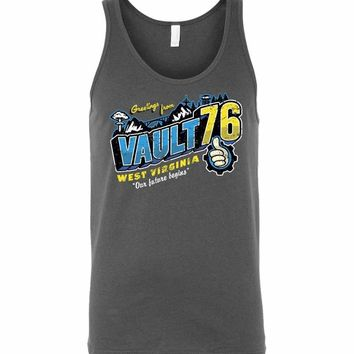 Greeting From WV Vault Unisex Tank Top