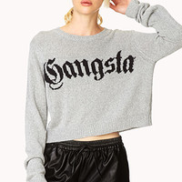FOREVER 21 Gangsta Sweater Grey/Black