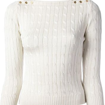 Ralph Lauren Black cable knit sweater
