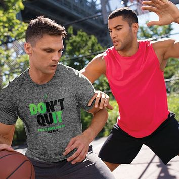 Kerusso Don't Quit Pray & Never Give Up Active Unisex Bright T Shirt