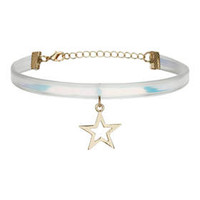 Iridescent Star Choker - Clear